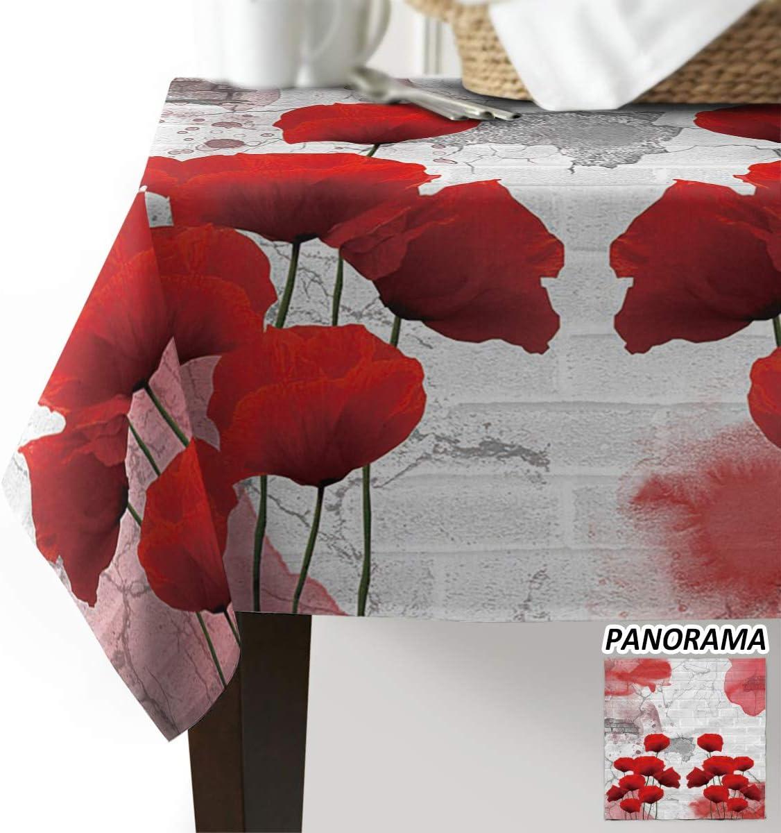 定番キャンバス Rectangle Table Cloth Oil-Proof 贈答品 Floral Spill-Proof Th Tablecloth