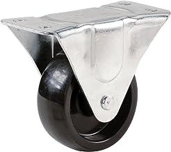 Shepherd Hardware 9398 3-Inch Polypropylene Wheel Rigid Plate Caster, 210-lb Load Capacity