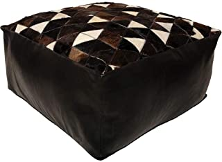 Ren-Wil PF039 Pouf, Medium, Black, White