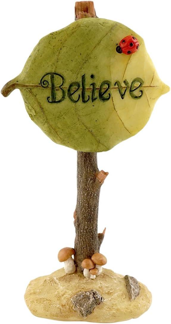 Top Collection Miniature Garden and Terrarium Believe Fairy Sign Figurine