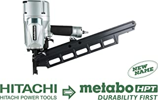 Metabo HPT NR83A5(S) Pneumatic Framing Nailer, 2-Inch up to 3-1/4-Inch Plastic Collated Full Head Nails, 21 Degree Magazine, Selective Actuation Switch, Rafter Hook 5-Year Warranty