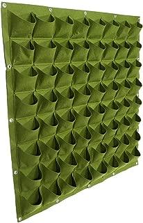Bolsas para plantas colgantes de pared con 64 bolsillos, bolsa ecológica de jardinería maceta interior y contenedor de crecimiento de flores