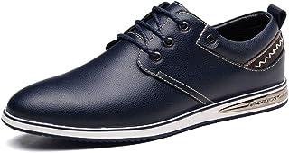 Rui Landed Men's Fashion Oxford Four Seasons Style Simple Laces Comfortable Casual Shoes Durable (Color : Blue, Size : 39 EU)