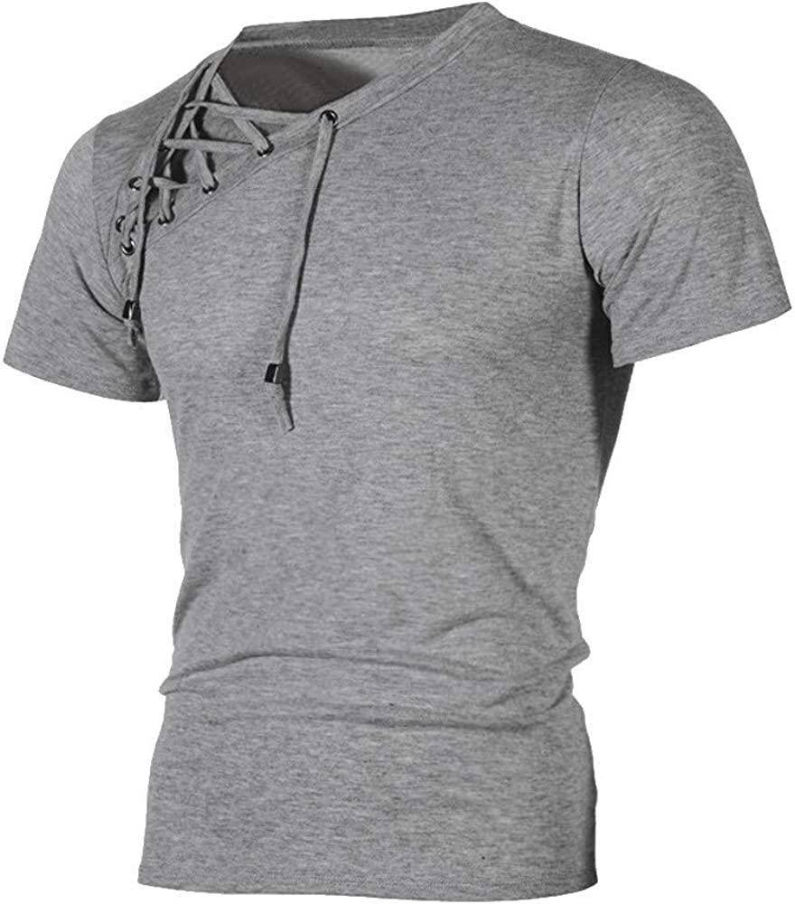 MODOQO Shirt for Men,Simple Fashion Slimd Fit Short Sleeve Workout Running Tees