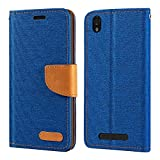 ZTE Blade X3 A452 Case, Oxford Leather Wallet Case with