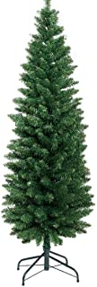 1.8M Slim Christmas Tree 6FT Pencil Xmas Tree Faux Green Jingle Jollys Holiday Decoration Indoor Décor Skinny Narrow Trees...