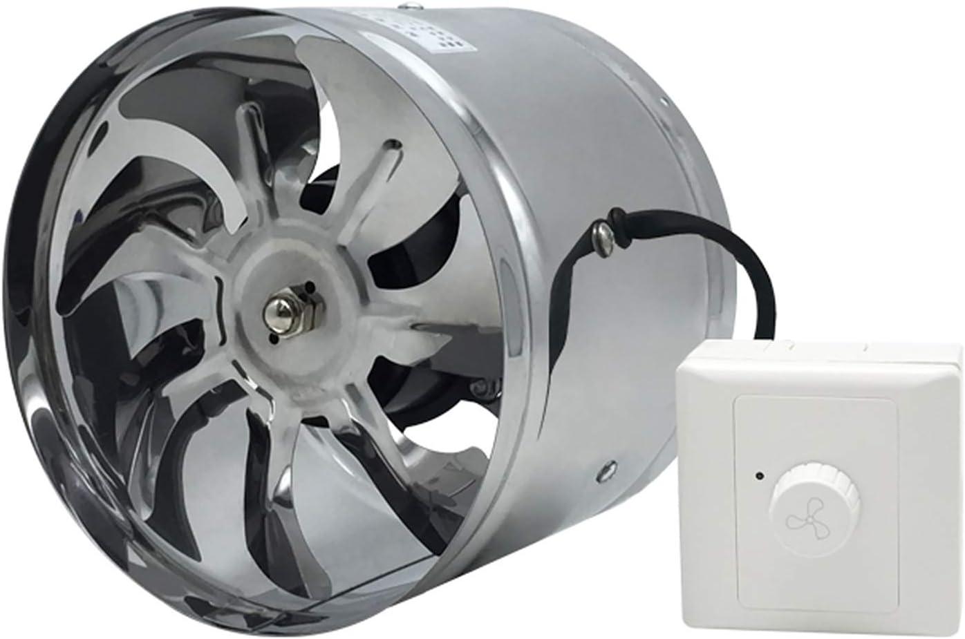 MEILINL Ventilador Extractor,Inline Ventilador De Ventilación De Conducto Silencioso 5 Tamaños A Elegir 150, 170, 195, 250, 300 Mm para Baño Inodoro Oficina,8