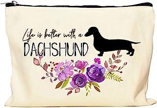 Dachshund Life is Better Makeup Bag