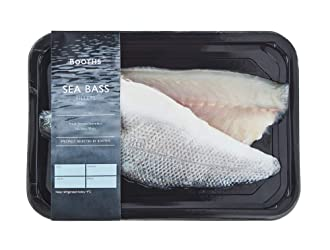 Booths Farmed Sea Bass Fillets, 156 g