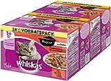 Whiskas Comida para Gatos Ragout clásica selección en Jalea. Comida húmeda Ingredientes Importantes. 2 Bolsas de 85 g.