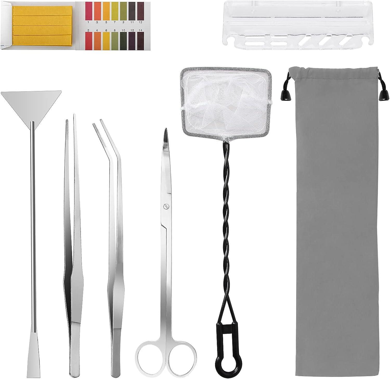 Luxiv 7 in 1 depot Aquarium Aquascape Silve Tools Surprise price Stainless Kit Steel