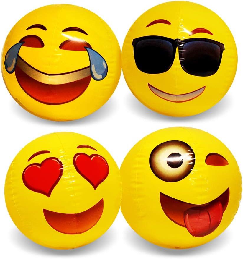 Emoji Outstanding Beach Ball 12 Industry No. 1 Pack Balls Inch - 18