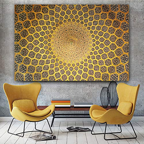 XWArtpic Moderne abstrakte riesige leinwand gemälde Druck auf leinwand für isfahan lotfollah moschee Decke symmetrische Bilder Wand Kunst a 60 * 90 cm