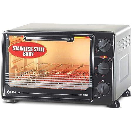 Bajaj 2200 TMSS 22 L Oven Toaster Grill, Black, Silver
