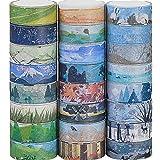 24 rotoli di nastro decorativo Washi Tape, diversi stili mascheratura nastro adesivo per scrapbooking