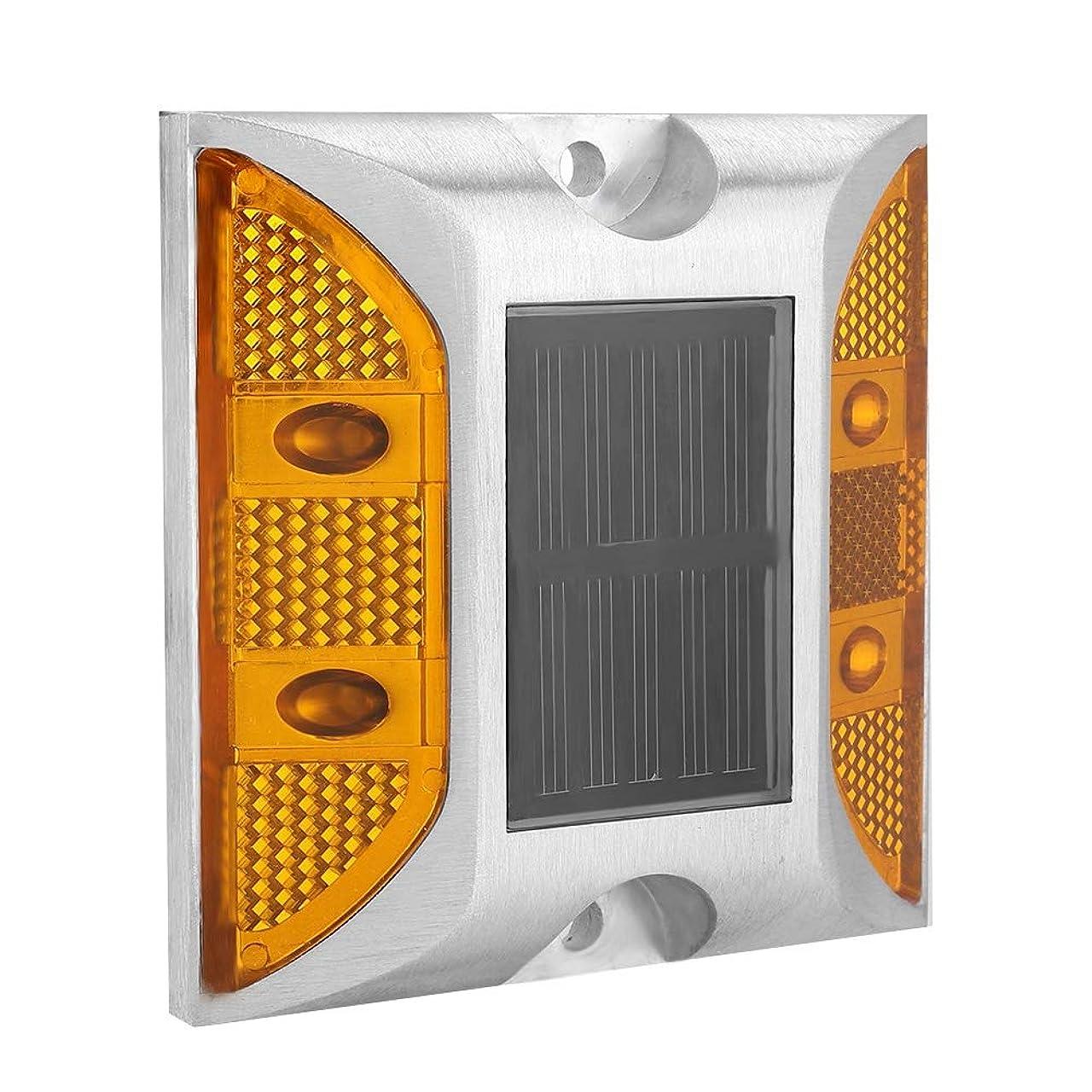 ベンチャー裁判所ホスト道路リフレクター 両面道路舗装マーカー LED付き 道路 誘導 長方形リフレクター 道のスタッドライト 屋外太陽動力リフレクター