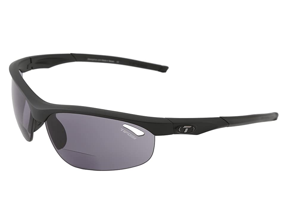 Tifosi Optics Velocetm Reader (Matte Black/Smoke Reader/+2.0) Athletic Performance Sport Sunglasses