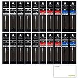 三菱鉛筆 ジェットストリーム プライム 多色ボールペン 0.5mm 替芯 20本セット (黒10本・赤6本・青4本) SXR-200-05 LOCONEKO試し書き用紙セット