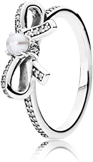 Sentiments, White Pearl & Clear CZ 190971P Different Sizes Available (7.5)