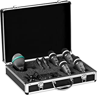 AKG Acoustics Drum Set Concert 1 Professional Drum Microphone Set With D112 MkII Bass Drum, 2x C430 Overhead and 4x D40 Microphones