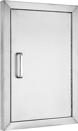 """discount SHZOND popular 14"""" Wx 20"""" H BBQ online Access Door 304 Stainless Steel BBQ Island Door Heavy Duty Single Vertical Door for Outdoor Kitchen online"""