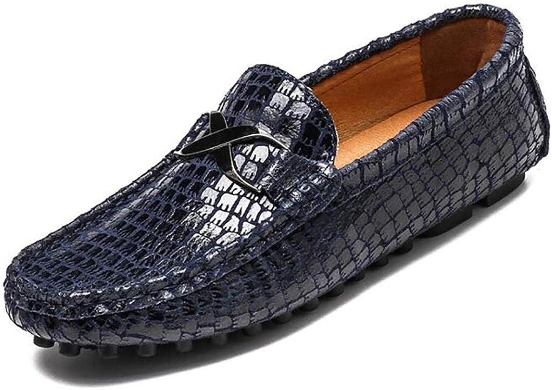 Qzny Herren Lederschuhe 2018 Loafers Slip-Ons Fahren Schuhe Formale Business Arbeit Herrenschuhe (Farbe   C, Gre   35)