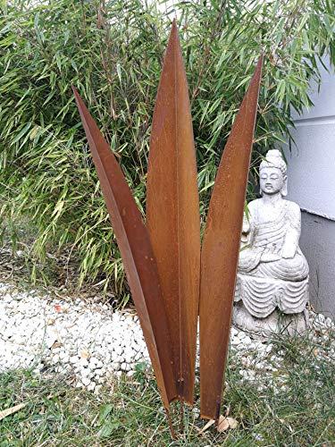 Zen Man Edelrost Gartenstecker Rost Garten Beetstecker Gartenfigure Sculpture Rost 031570-1 H80 72 64 cm Inset Handarbeit