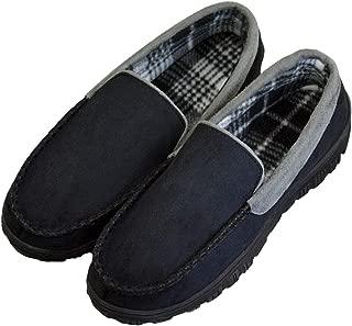 DGrut Driving Slippers for Men Wool Like Warm Memory Foam Shoes