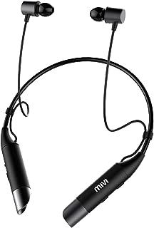 Mivi Collar Wireless Bluetooth 5.0 Neckband Earphones with Mic (Black)