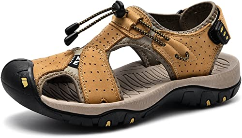 CHENGXIAOXUAN Sommer Neue Sandalen Atmungsaktive Leder Freizeitschuhe Herren Baotou Schuhe Outdoor-Strandschuhe Größe Herrenschuhe