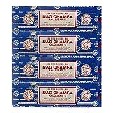 Satya Sai Baba Nag Champa Incense Sticks, 100-gram (Pack of 4)