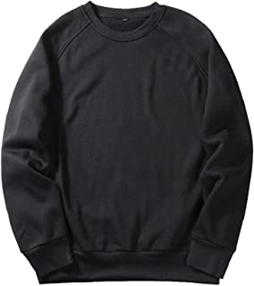 Mogogo Mens Over Sized Stitching Raglan Sleeve Pullover Top Sweatshirt