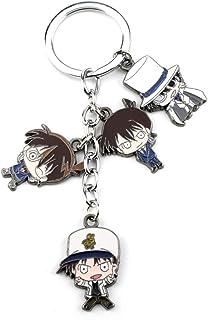 YNE Anime Conan Accessories, Detective Kaito Kidd, Kudo Shinichi, Hattori Heiji, Doll Model Keychain