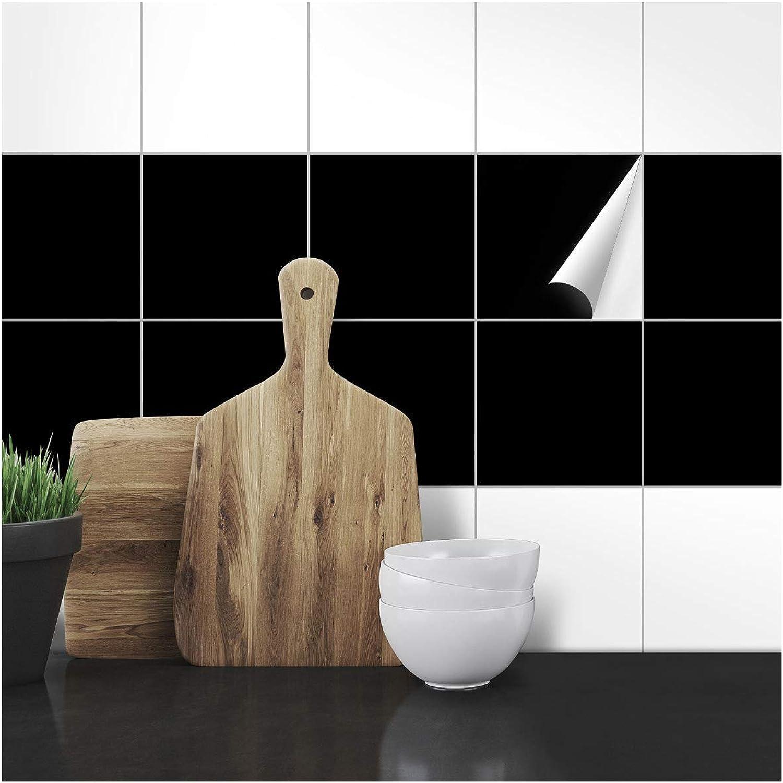 Wandkings Wandkings Wandkings Fliesenaufkleber - Wähle eine Farbe & Größe - Schwarz Seidenmatt - 14,9 x 14,9 cm - 200 Stück für Fliesen in Küche, Bad & mehr B074DZCXQN da28db