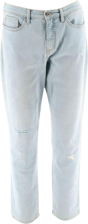 Studio Denim & Co Denim Ankle Jeans Indigo Bleach Wash 18W New A304472
