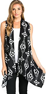 Women's Solid Color Sleeveless Asymetric Hem Open Front Cardigan
