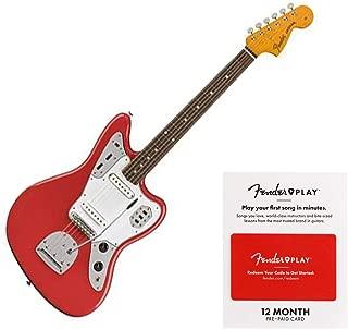 Fender Classic Series 60's Jaguar Electric Guitar - Pau Ferro Fingerboard - Fiesta Red - Lacquer