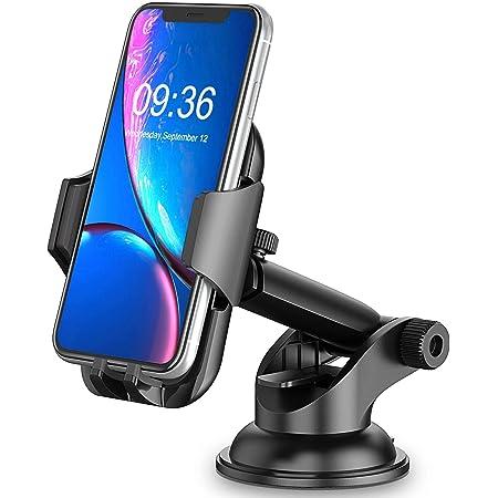 「2021強化版」スマホホルダー 車 強力吸盤 安定性抜群 Cocoda 車載ホルダー 360°回転 伸縮アーム ワンタッチ取り付け 片手脱着 スマホスタンド 車 ダッシュボード・フロントガラス 兼用 スクリーン・カメラをブロックしない 4.0-6.7インチ iPhone 13 Pro Max/ 13 Pro/ 13 mini/ 12 Pro/ 12/ 11 Pro Max/ 11 Pro/ 11/ Samsung/ Huaweiなどに対応