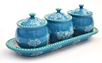 temp-tations® Floral Lace Mini Ramekins with Lid and Tray - 4 Piece - Summer
