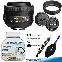Nikon 35mm f/1.8G AF-S DX Lens + PixiBytes Exclusive Microfiber Cleaning Cloth