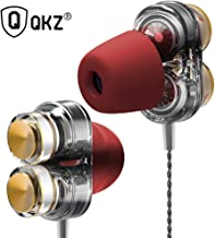 QKZ KD7 Earphones Dual Driver Sport Earphone 3.5mm Jack Headset Hands Free with Mic Music Earphone for All Phone Pc
