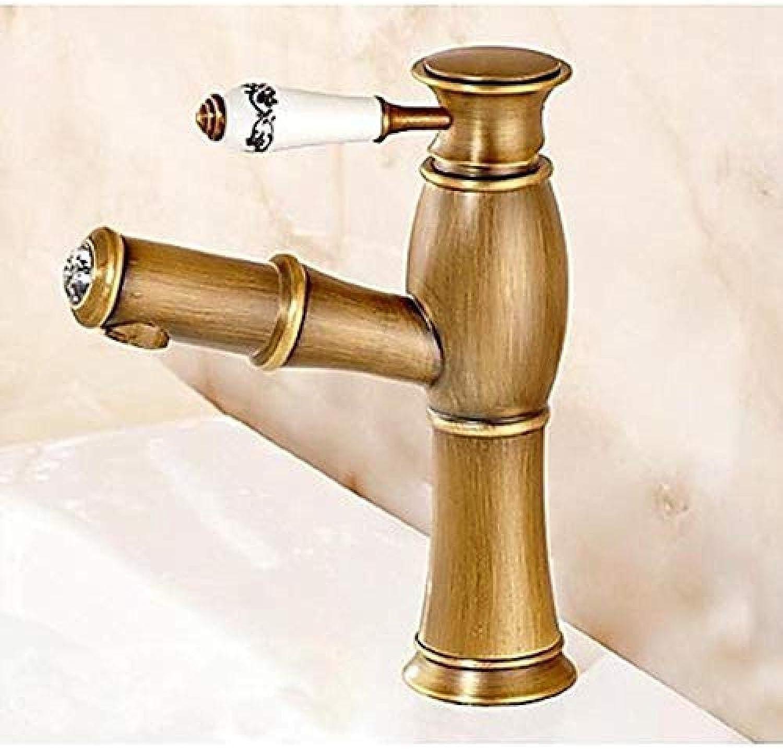 Wasserhahn-Wasserhahn Bad Wasserhahn Abnehmbare Tau Messing Antik Abdeckung Einhand Ein Bad Wasserhahn
