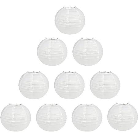 20 Paket Chinesische Runde WeißE Papier Laterne Papier Laternen HäNgende L J8Z2