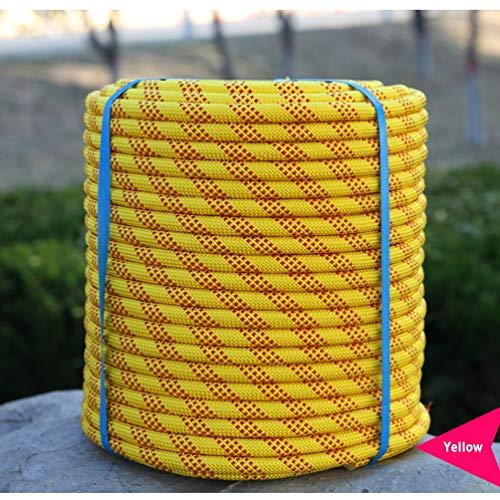 MAIDEHAO Cuerda de escalada estática de 12 mm, cuerda de seguridad de nylon, escalada de árboles, escalada en hielo, doble mosquetón, cuerda de escape de seguridad, camping, escape de desastres 10M-10
