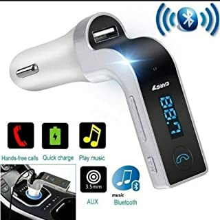 蓝牙 FM 发射器,HSEE 车载无线FM 适配器车载套件带 USB 车载充电,适用于 iPhone、Samsung、LG、HTC、Motorola、Sony 和其他 Android 智能手机