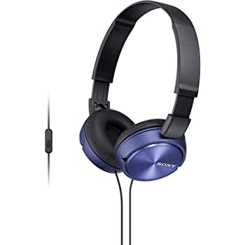Sony Foldable Headphones with Smartphone Mic and Control - Metallic Blue
