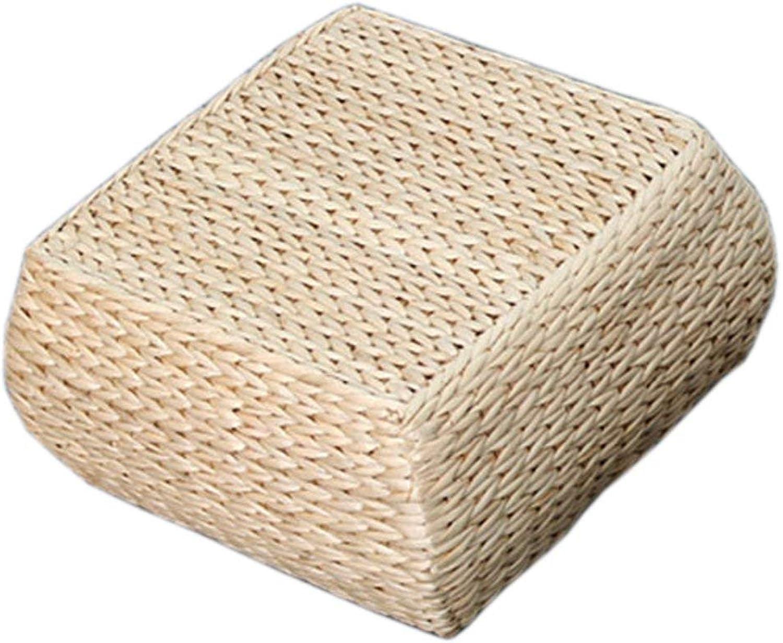 Seat Cushion Square Handmade Straw Cushion Home Bay Window pad Kneeling Worship Meditation pad Thickening Meditation futon pad Tatami 30  30  16cm Chair Pad