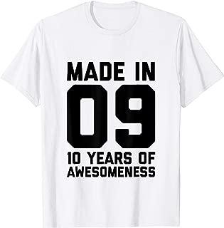 10th Birthday Shirt Boys Girl Age 10 Year Old Son Gift Ten