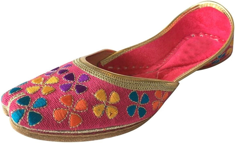 Step n Style Womens Khussa shoes Punjabi Jutti Salwar Kameez Flat Sandals Flat Mojri