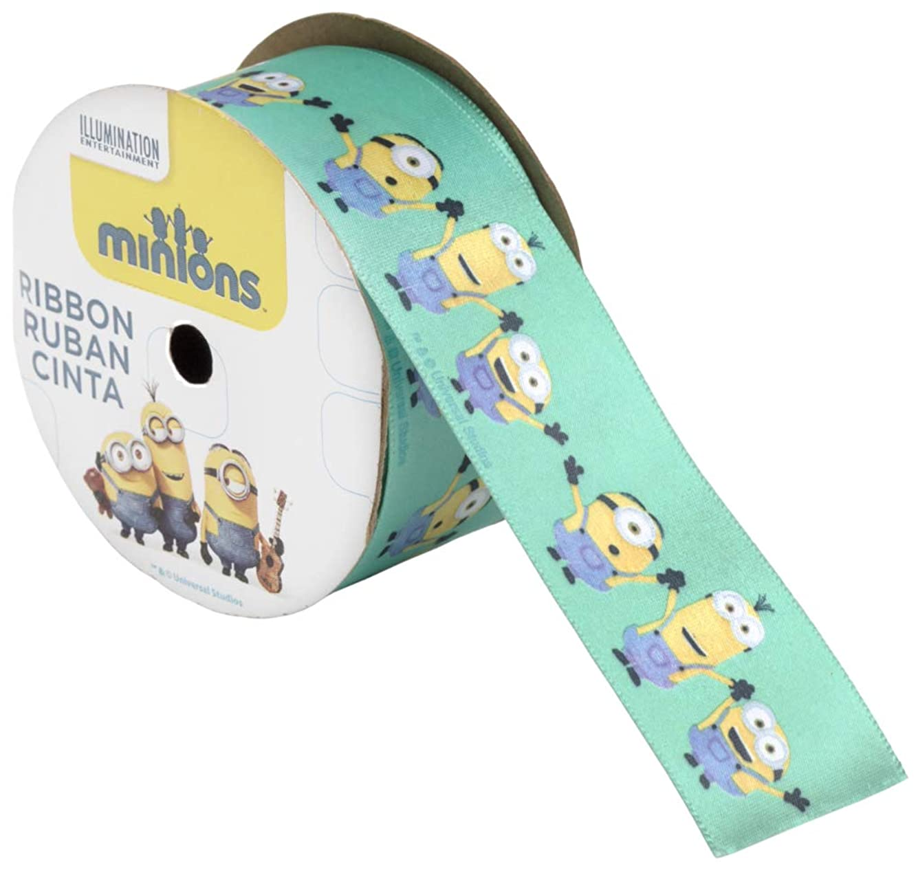 OFFRAY Ribbon Minions 1 1/2 INCHES X 9 Feet